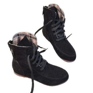 Angel Wings Girls Lace up Winter Boots Flat Ankle Shoes Mothers Day Gifts Style Lace Up Boots Flat Ankle Shoes Shoes
