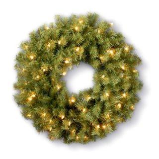 5 ft. Pre lit Clear Light Norwood Fir Christmas Wreath   Christmas Wreaths