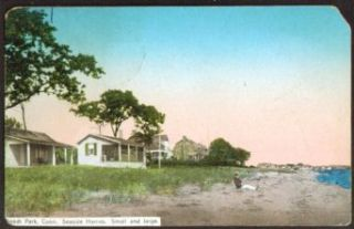 Seaside Homes Small & Large Beach Park CT postcard 1918 Entertainment Collectibles