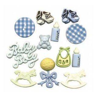 12 PACK BUTTON THEME PACKS BABY BOY Papercraft, Scrapbooking (Source Book)