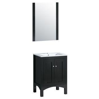 Yosemite Home Decor 23.5 in. Single Bathroom Vanity Set   Black   Single Sink Bathroom Vanities
