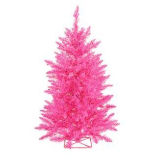 Vickerman 3 ft. Hot Pink Pre lit Christmas Tree   Christmas Trees