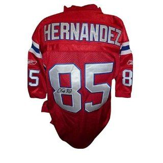 Autographed Aaron Hernandez Jersey   Red Throwback #85 AH Holo   Autographed NFL Jerseys  Athletic Jerseys  Sports & Outdoors
