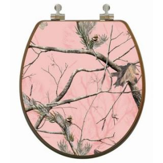 Topseat 6TSPR2161CP Realtree Camouflage (Pink   AP Pattern) Round 3D Toilet Seat   Toilet Seats