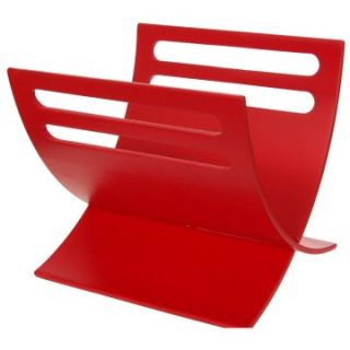 Japanese Style Curved Magazine Rack   Red   Home Magazine Racks