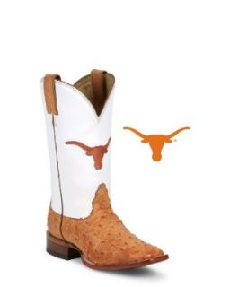 Nocona Women's Texas Cognac Full Quill Ostrich Boot Shoes