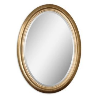 Niles Antiqued Gold Leaf Wall Mirror   33.5W x 45.5H in.   Wall Mirrors