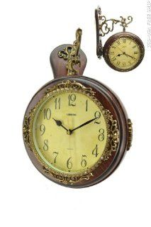 High Quality Antique Incredible 2 Side Wall Clock Double Face Hanging Clock Free Ship. ZP869 ITE