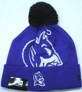 Duke Blue Devils New Era NCAA Woven Biggie Cuffed Knit Hat  Sports Fan Beanies  Sports & Outdoors