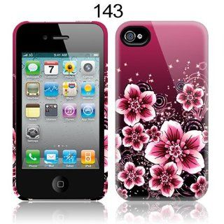 TaylorHe Pink Floral Patterns iPhone 4 iPhone 4S Hard Case Printed Phone Case MADE IN THE UK All Around Printed on Sides 3D Sublimation Highest Quality Cell Phones & Accessories