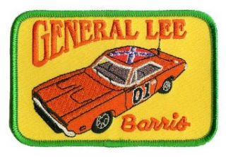 Barris Custom Car General Lee Dukes of Hazzard Embroidered Iron On Patch