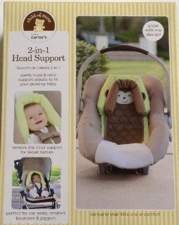 Carter's Child of Mine 2 in 1 Head Support Monkey Perfect for car seats strollers bouncers joggers  Child Safety Car Seat Accessories  Baby