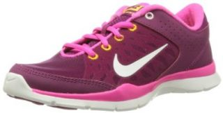 Nike Women's Flex Trainer 3 Rspbrry Rd/Smmt Wht/Pnk Fl/Lsr Training Shoe 7.5 Women US Cross Trainer Shoes Shoes