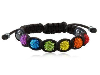 Rainbow Pride Black Shamballa Bracelet   Gay & Lesbian LGBT Pride. LGBT Pride   Gay and Lesbian Bracelet. One high quality wristband / anklet for men or women. Rainbow Pride Jewelry Wristlet is Great for the Gay parade, as a Lesbian, Gay, Bisexual, or