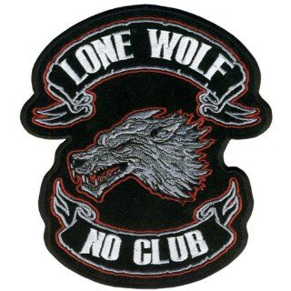 "Hot Leathers Lone Wolf Embroidered Patch (6"" Width x 7"" Height) Automotive"