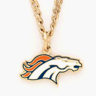 Denver Broncos Chain Necklace with NFL Team Logo Pendant  Sports Fan Necklaces  Sports & Outdoors