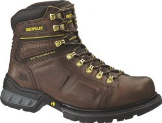 Caterpillar Mens Endure 6  Inch Leather Boots Shoes