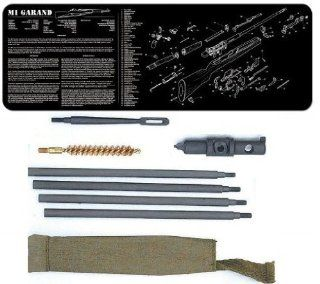 Ultimate Arms Gear Complete M1 M 1 M1D Garand Armorer Kit Includes Military Mil Spec Quality Classic WWII Reproduction Cleaning Kit And Buttstock M10 Combo Multi Tool + Armorer's Gunsmith Cleaning Work Tool Bench Gun Mat  Gunsmithing Tools And Access