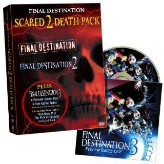 Final Destination Scared 2 Death Pack: Devon Sawa, Ali Larter, A.J. Cook, Tony Todd, Kerr Smith, Kristen Cloke, Daniel Roebuck, Roger Guenveur Smith, Chad Donella, Seann William Scott, Amanda Detmer, Brendan Fehr, David R. Ellis, James Wong, Art Schaefer,