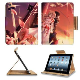 Sword Art Online Kirito Asuna Apple Ipad 4 Flip Case Stand Anime Game Manga Comic ACG Smart Magnetic Cover Open Ports Customized Made to Order Support Ready Premium Deluxe Pu Leather 9 7/8 Inch (250mm) X 7 7/8 Inch (200mm) X 5/8 Inch (17mm) Woocoo Ipad Pro