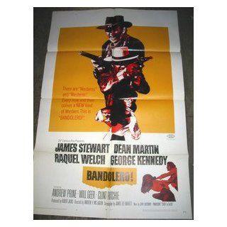 BANDOLERO / ORIGINAL U.S. ONE SHEET MOVIE POSTER (RAQUEL WELCH) RAQUEL WELCH Entertainment Collectibles