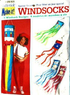 OOP Butterick Crafts Pattern 970 or 959. 4 Windsock Designs Birthday, Flowers, Americana, Birth of Boy or Girl Baby