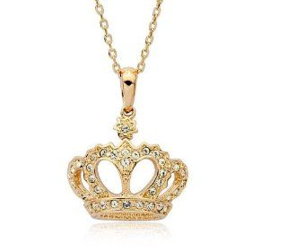 LOY Jewelry Queen's Crown 18K Gold Plated Fashion Pendant Jewelry Austria Crystal: Jewelry