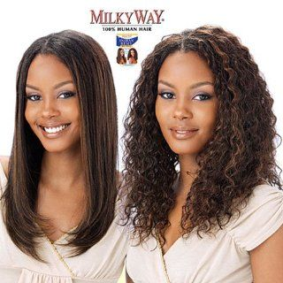 """INDIAN JERRY CURL 14""""   MilkyWay 100% Human Hair Wet & Wavy Indian Hair Weave Extension #4  Hair Replacement Wigs  Beauty"""