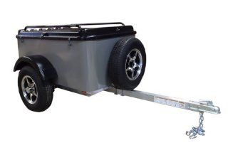 Hybrid Trailer Co. Vacationer with Spare Tire   Enclosed Cargo Trailer, 990 lbs. Gross, 30 cu/ft.   Pewter Automotive