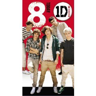 Heroes For Kids One Direction Birthday Card With Badge Age 8 Od002: Baby