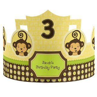 Monkey Neutral Personalized Birthday Party Hats Toys