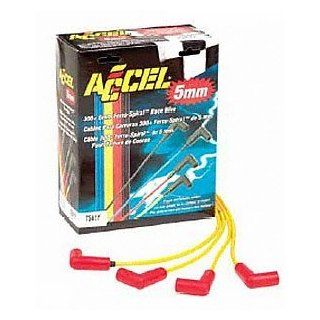 ACCEL 7541K 300 Plus Black Ferro Spiral Race Spark Plug Wire Set Automotive