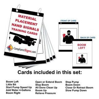 Material Placement Hand Signals Training Cards Card CRANE 170 Worksite : Business And Store Signs : Office Products