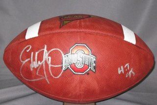 Eddie George Autographed NCAA Football Ohio State at 's Sports Collectibles Store