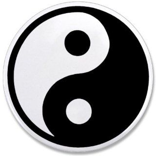 """3.5"""" Button Yin Yang Black and White: Everything Else"""