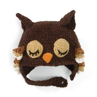 San Diego Hat BROWN SLEEPY OWL Baby Beanie Hat Bonnet 6 12 Months   SO cute  Other Products