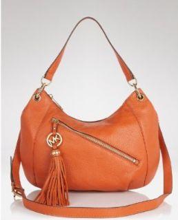 Michael Kors Tassel Convertiable Shoulder Hobo Bag Purse Burnt Orange Shoes