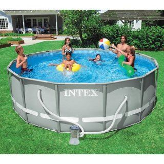 """Intex 12' x 36"""" Ultra Frame Aboved Ground Swimming Pool   Round Toys & Games"""