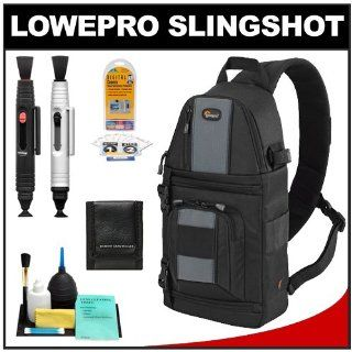 Lowepro Slingshot 102 AW Digital SLR Camera Backpack Case (Black) + Accessory Kit for Canon EOS 6D, 5D Mark II III, Rebel T3, T4i, T5i, Sl1, Nikon D3100, D3200, D5100, D5200, D7000, D7100, D600, D800, Sony Alpha A57, A65, A77, A99 DSLR Cameras  Camera &am