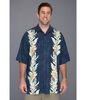 Tommy Bahama Big & Tall Big Tall Tropic Of Parallel Shirt Mens Short Sleeve Button Up (Blue)