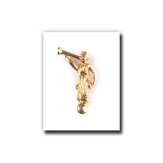 Angel Moroni Tie Tack (Gold)   Gold Color Angel Moroni Lapel Pin   Mormon Clothing Accessory   LDS Jewelry   Wear to Church   Great Gift   Religious and for Anyone   Wonderful for Neck Ties and Clothing   Great Gift for Everyone   Just Like the Moroni on t