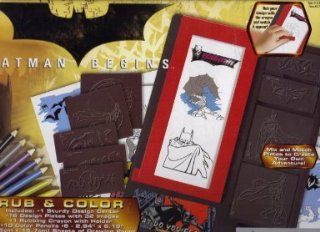 Rose Art Batman Begins Rub & Color 5726 : Other Products : Everything Else