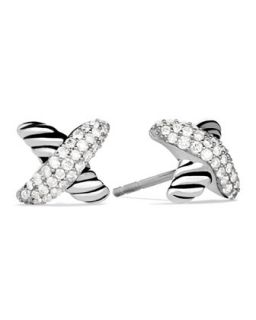 David Yurman X Earrings with Diamonds