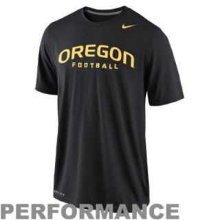 Nike Oregon Ducks Dri FIT Practice Legend Authentic Font Performance T Shirt   Black