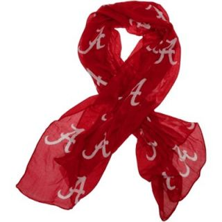 Alabama Crimson Tide Ladies Logo Scarf   Crimson
