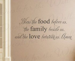 Bless the Food Before Us the Family Beside Us and the Love Between Us Amen   Religious God Christian Prayer Dining Room Kitchen   Wall Decal Mural Graphic   Vinyl Quote Sticker Art Decoration   Lettering Decor Saying