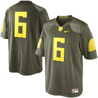 Nike Oregon Ducks #6 Limited Edition Military Jersey   Olive