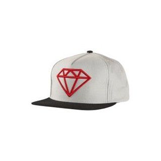 Diamond Supply Co Rock Logo Snapback   Men's ( Grey/Red ) at  Men�s Clothing store