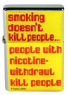 Smoking Doesn't Kill People Flip Top Lighter: Sports & Outdoors