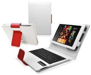 Ionic Bluetooth Keyboard Tablet Stand Leather Case for  Kindle Fire HD 8.9 Kindle Fire HD Tablet (White Red)[Doesn't fit Kindle Fire HD 7 Inch] Kindle Store